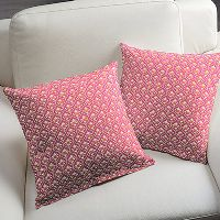 Gutermann Fabric Ornamental Palm French Cottage Pink - per quarter metre